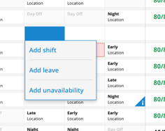 Clear visibility over rostered location